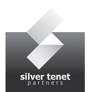 silver tenet logo with background v1.0